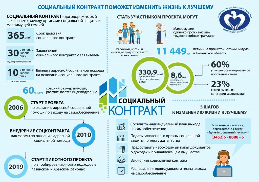 соцконтракт инфографика